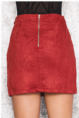 Suede Pencil Skirt - BEHIND HEMLINES - 3
