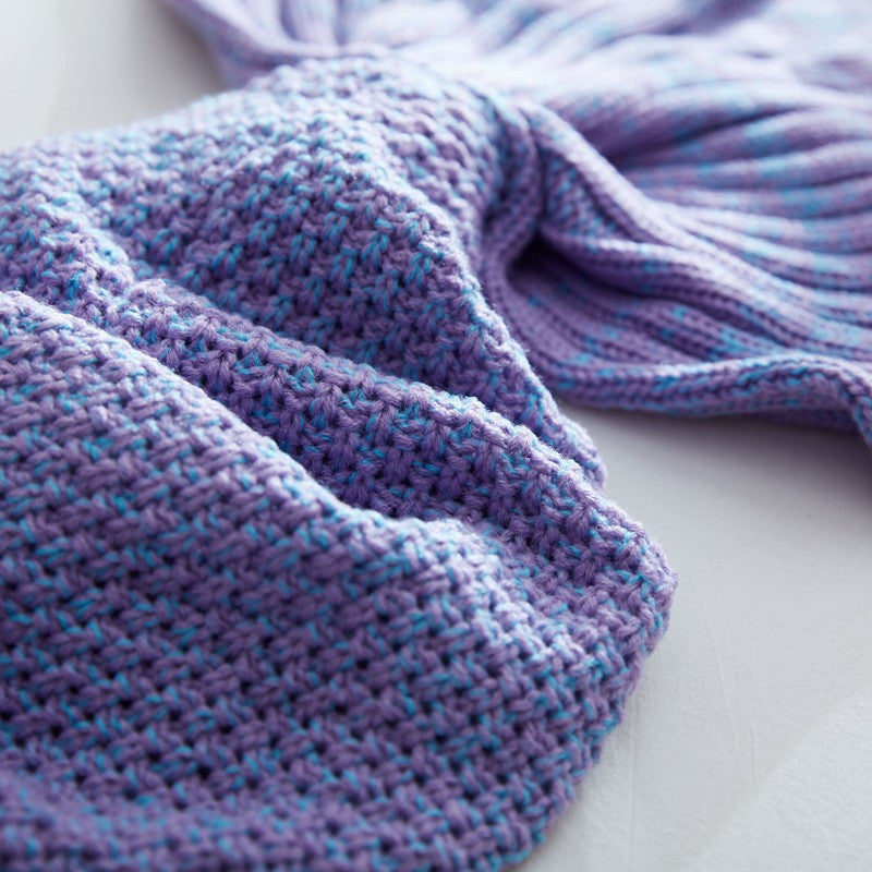 Purple Mermaid Tail Blanket - BEHIND HEMLINES - 3