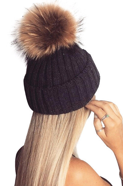 Knitted Bobble Beanie - BEHIND HEMLINES - 1