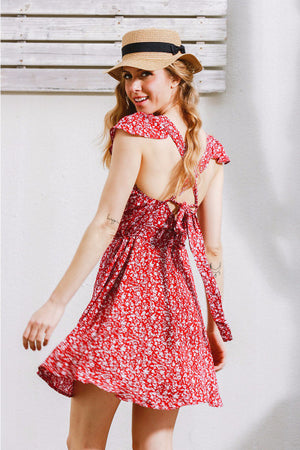 Vintage Floral Mini Dress - BEHIND HEMLINES - 1