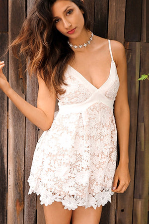 Garden Lace Playsuit - BEHIND HEMLINES