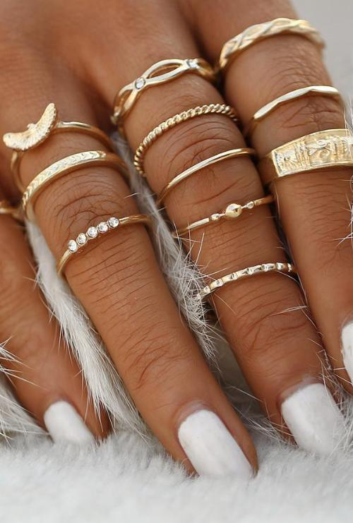 Boho 12pc Ring Set