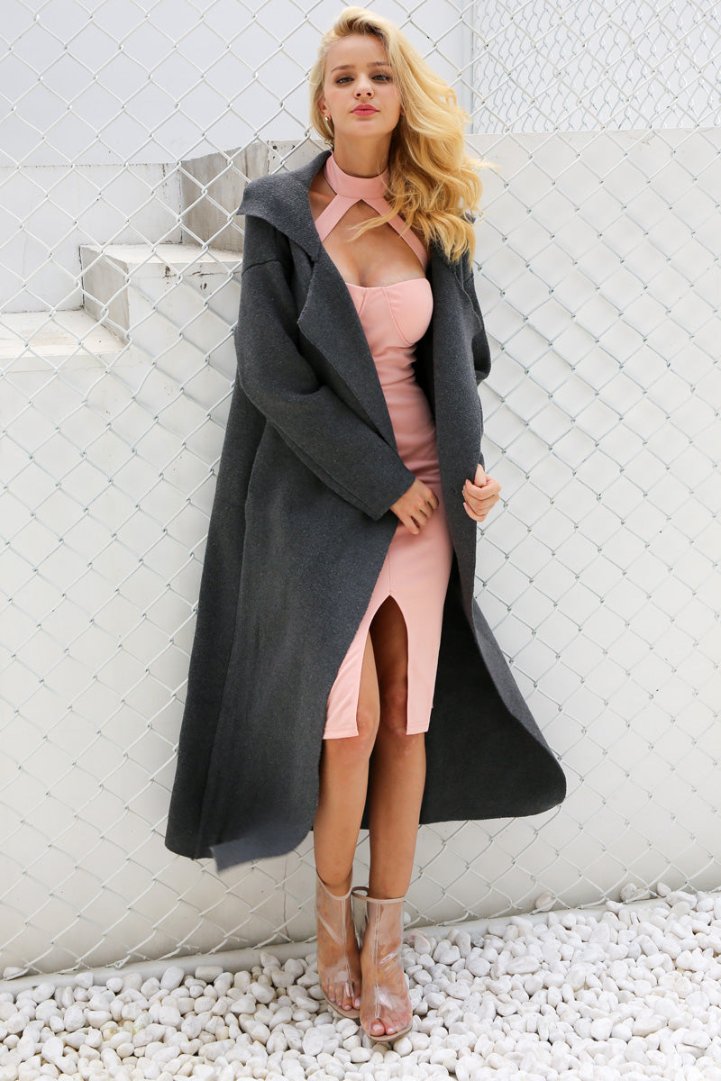 Oversized Knitted Trench Coat - BEHIND HEMLINES