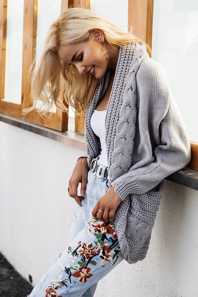 Pleated Knitted Cardigan
