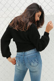 Waistband Knitted Sweater
