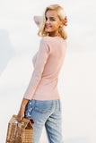 Side Laced Knitted Blouse