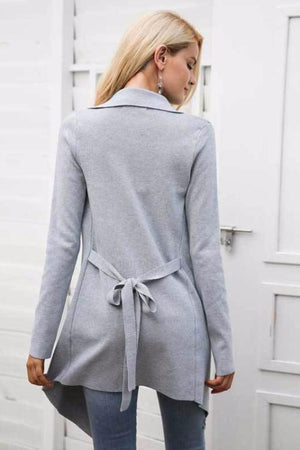 Lightweight Waterfall Duster Coat - BEHIND HEMLINES
