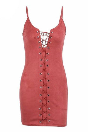 Laced Up Cami Dress - BEHIND HEMLINES