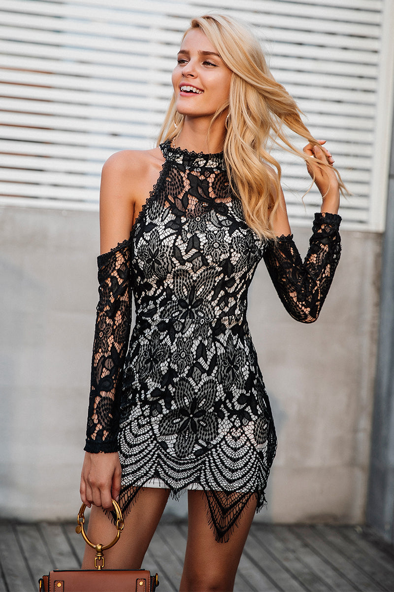 Little Black Lace Dress - BEHIND HEMLINES