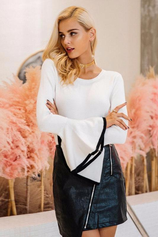 Classic Flare Sleeves Pullover
