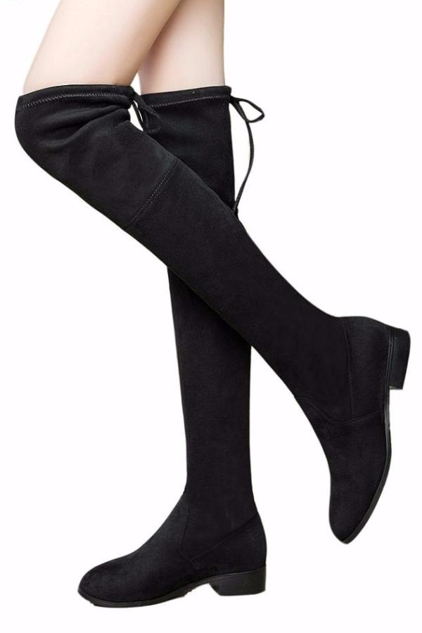 Over-The-Knee Flat Boots - BEHIND HEMLINES