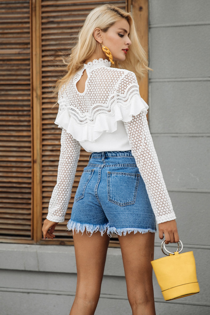 White Victorian Lace Blouse