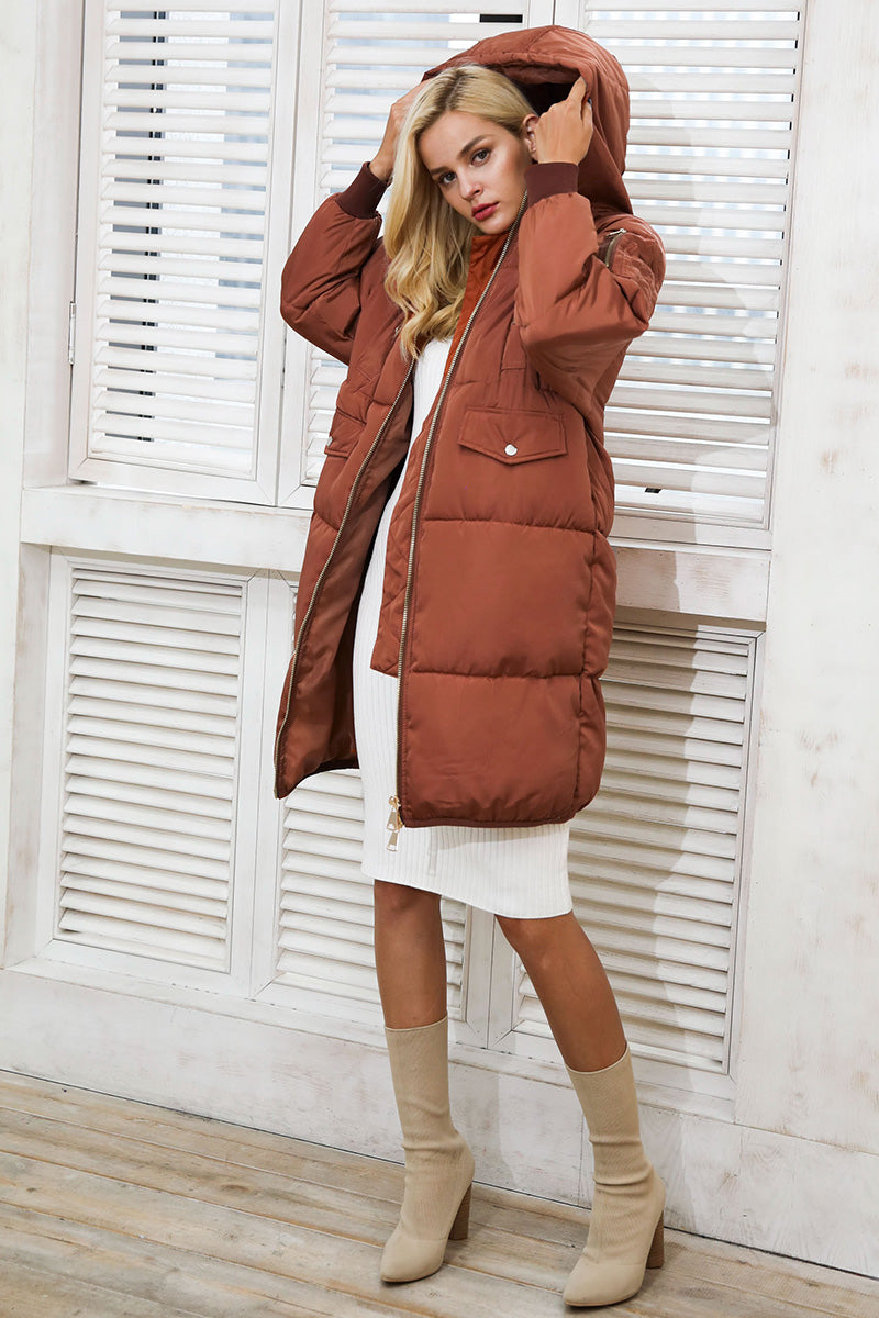 Oversized Padded Longline Coat - BEHIND HEMLINES