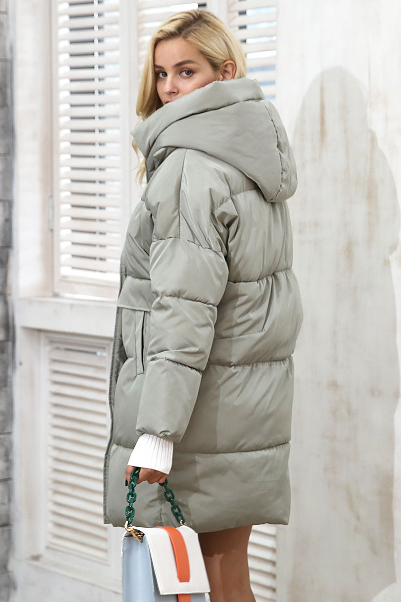 Oversized Hood Padded Coat - BEHIND HEMLINES