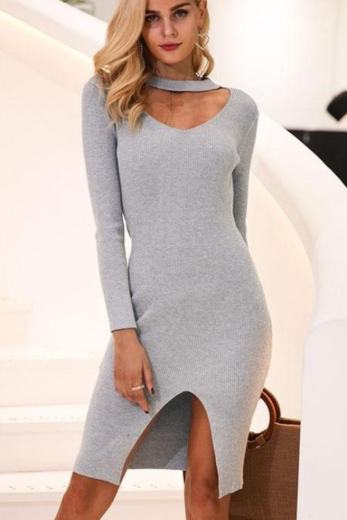 Jean's Sexy Sweater Dress