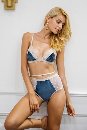 Velvet and Mesh Lingerie Set - BEHIND HEMLINES