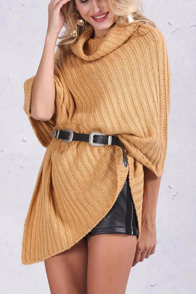 Knitted Poncho Sweater - BEHIND HEMLINES - 4