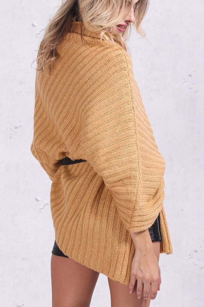 Knitted Poncho Sweater - BEHIND HEMLINES - 7