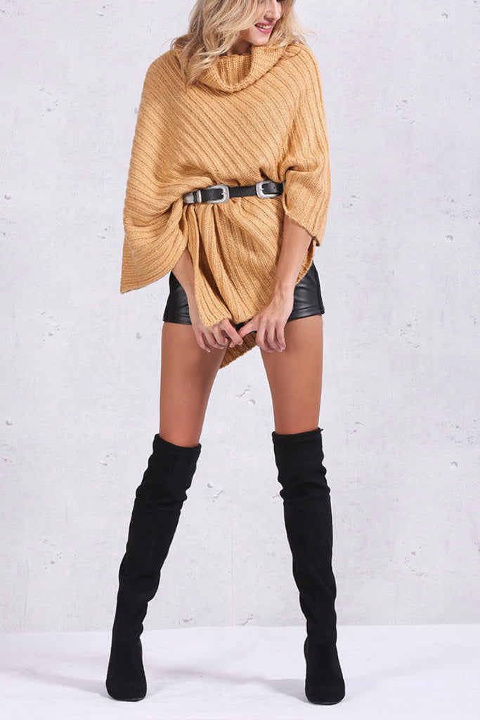 Knitted Poncho Sweater - BEHIND HEMLINES - 6
