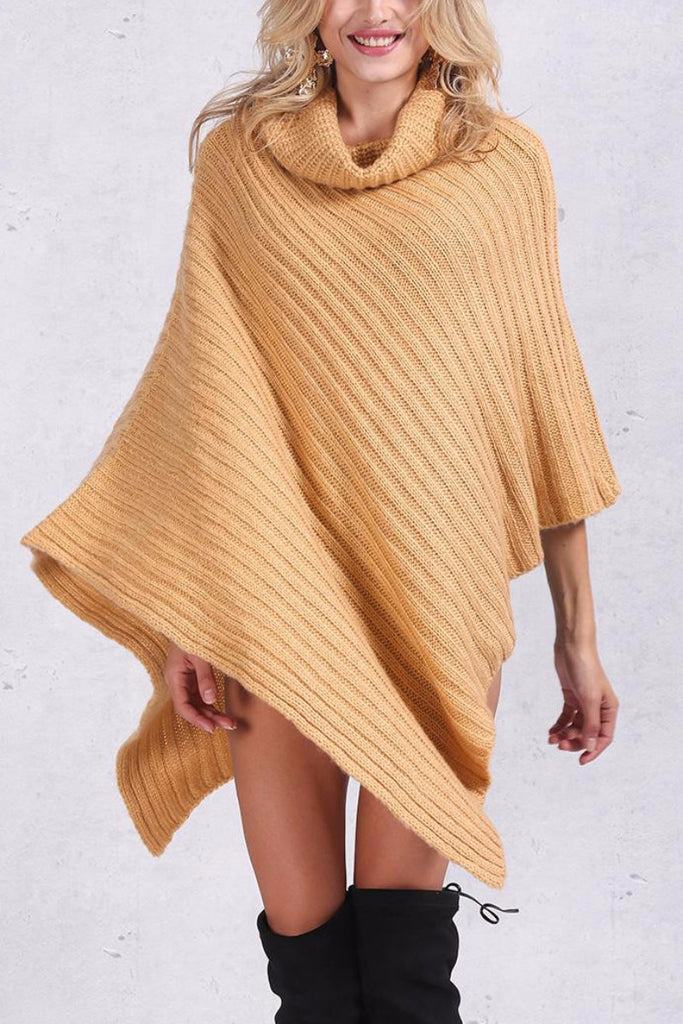 Knitted Poncho Sweater - BEHIND HEMLINES - 5