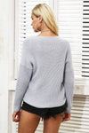 V-Neck Knitted Sweater - BEHIND HEMLINES
