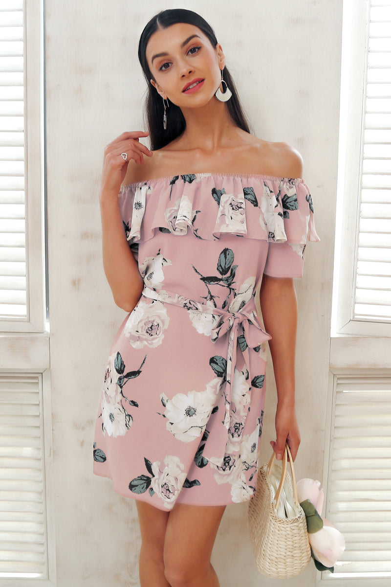 Pink Pastel Floral Dress - BEHIND HEMLINES