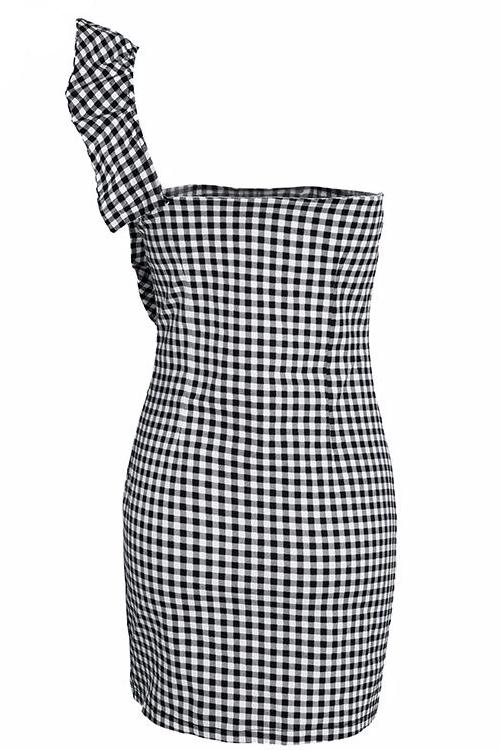 Gingham Bodycon Mini Dress