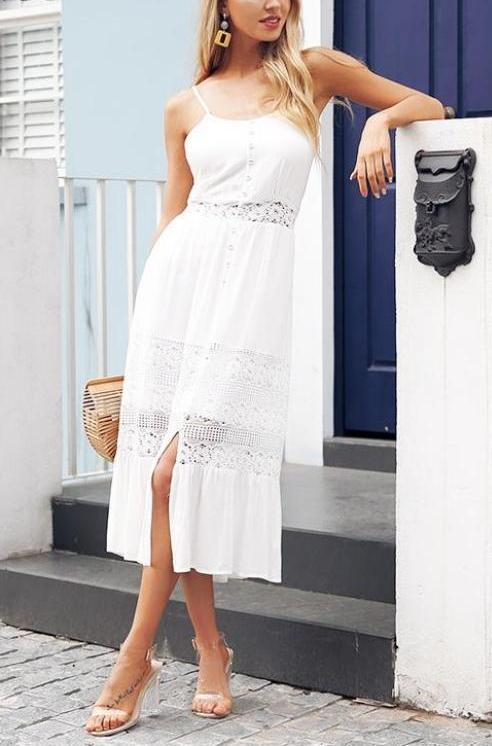 Hollow Out Lace Dress