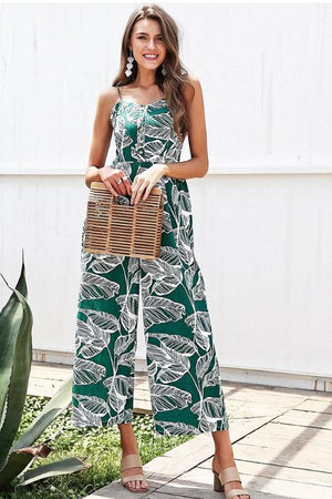 Wide Leaf Jumpsuit