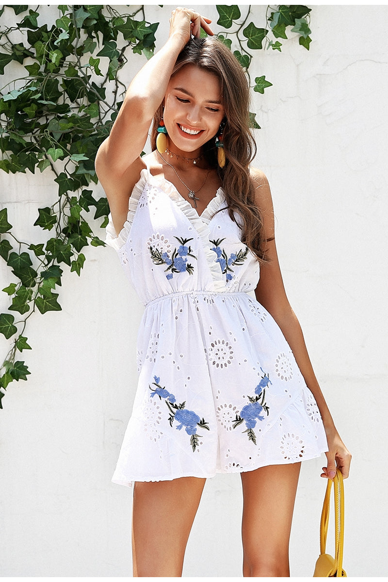 Max Floral Ruffle Romper