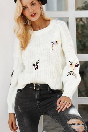 Gisela's Floral Sweater