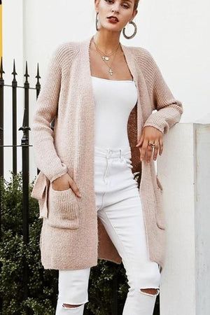 Teri's Knitted Long Cardigan