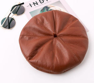 Classic Leather Beret