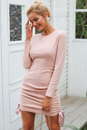 Marsha's Lace Up Sweater Dress
