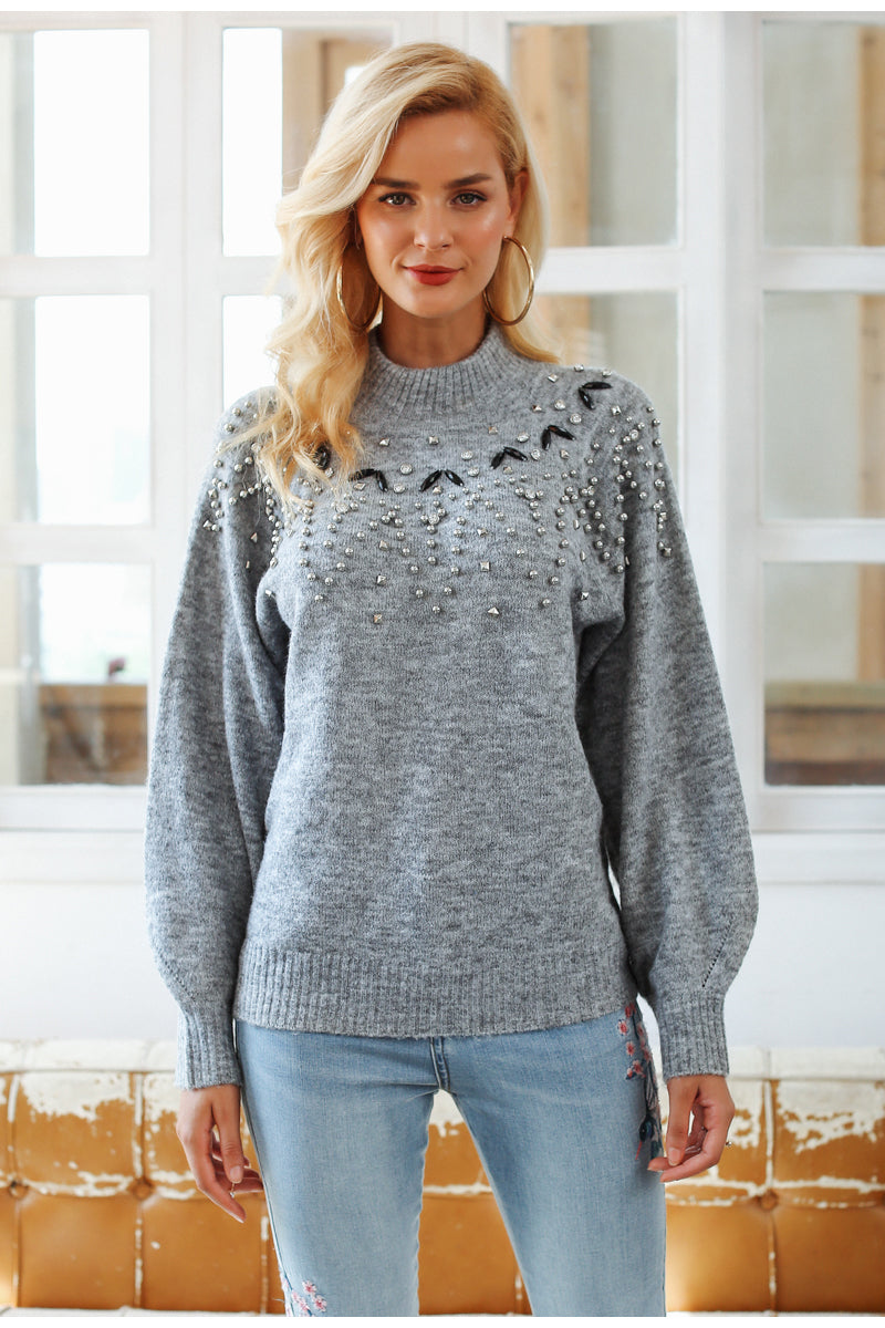 Chloe's Beaded Pullover