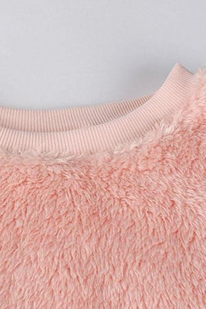 Monica's Fluffy Cropped Sweatshirt