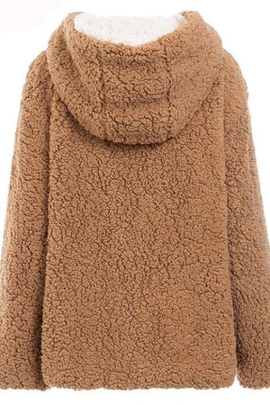 Sharon's Hooded Faux Fur Coat
