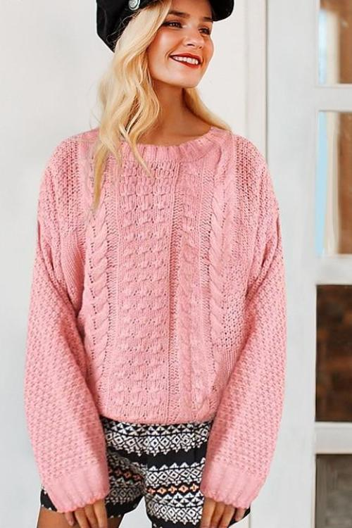 Carlie's Pink Twisted Sweater