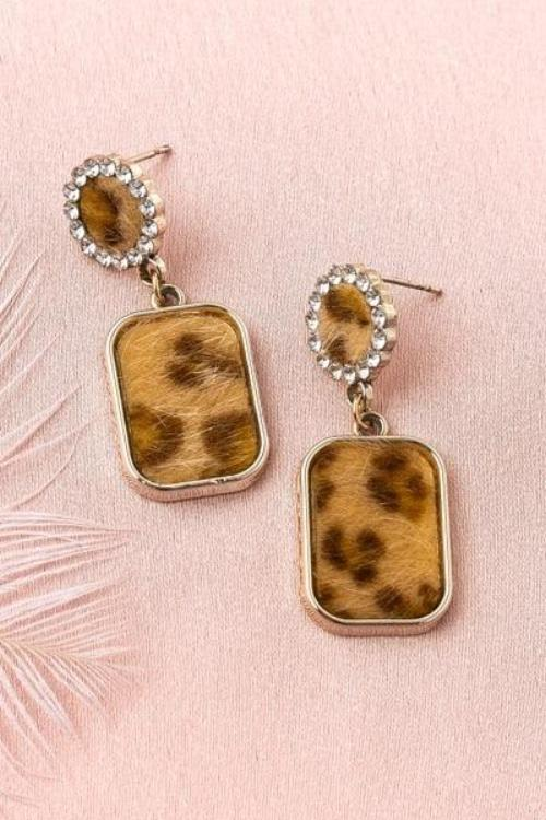 Sasha's Leopard Earrings