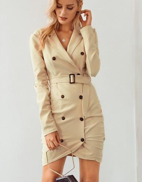 Tanya's Wrap Trench Dress