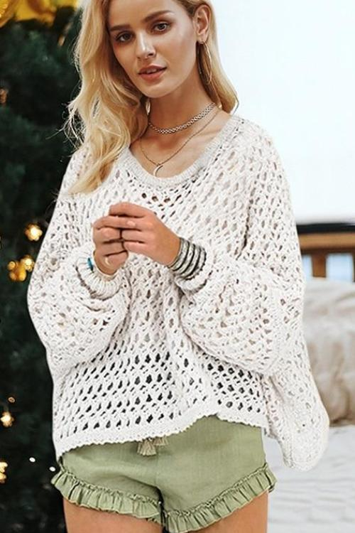 Nicole's Hollow Knitted Sweater