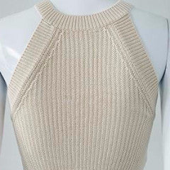 Knitted Halter Crop Top - BEHIND HEMLINES - 8