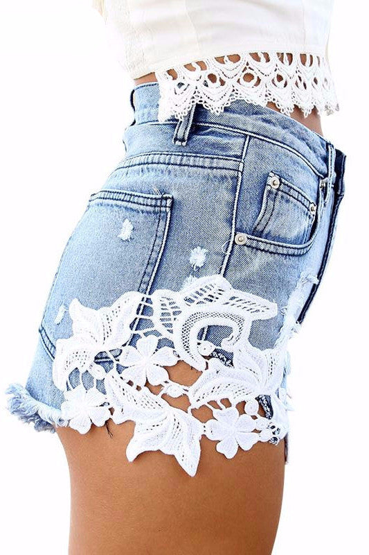 Lace Summer Shorts - BEHIND HEMLINES - 1
