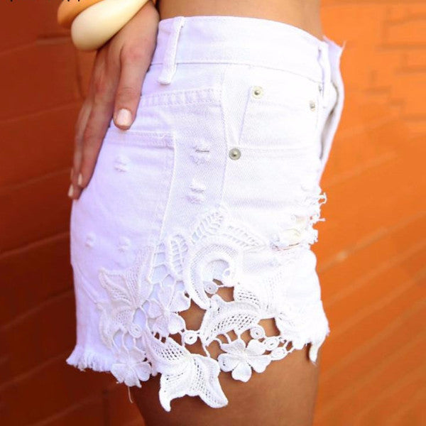 Lace Summer Shorts - BEHIND HEMLINES - 8