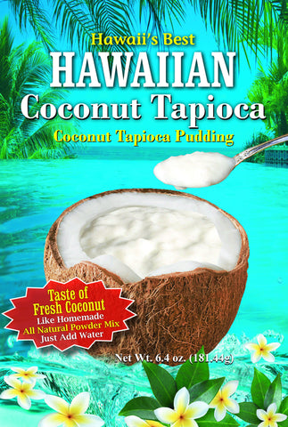 (3 BAGS - EXTRA VALUE PACK, $6.99 EACH) HAWAIIIAN COCONUT TAPIOCA MIX.