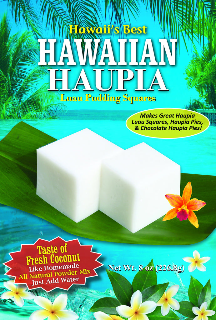 Free Shipping! (10 BAGS - EXTRA VALUE PACK, $5.49 EACH!) HAUPIA MIX (Coconut Pudding Luau Squares).