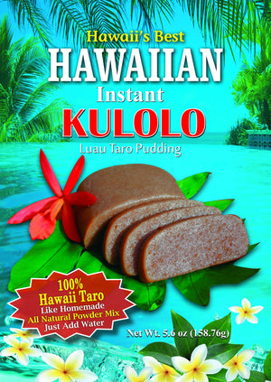 (1 BAG) KULOLO MIX (Taro Pudding), 100% Hawaiian Taro, Gluten Free, Makes approx 10 oz block of Kulolo, Easy to Prepare!