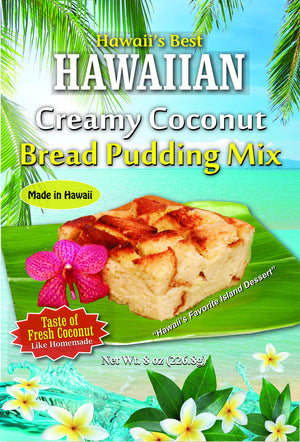 Free Shipping! (10 BAGS - EXTRA VALUE PACK, $5.49 EACH!) CREAMY COCONUT BREAD PUDDING MIX.  10 MINUTES TO PREPARE IN MICROWAVE!  SEE OUR BLOG FOR INSTRUCTIONS.