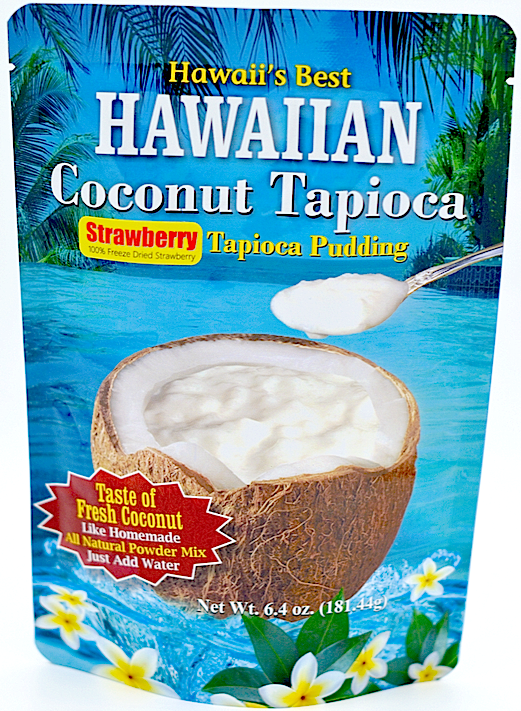 (1 BAG) STRAWBERRY COCONUT TAPIOCA MIX, Specialty Item- Limited Time Only, Made with 100% Freeze Dried Strawberry, Gluten Free, Kraft Minute Tapioca already inside, Just add water!