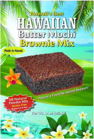 (3 BAGS - EXTRA VALUE PACK, $7.49 EACH)  HAWAIIAN BUTTER MOCHI BROWNIE MIX (MADE WITH 100% GHIRARDELLI COCOA).